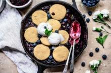 Blueberry Blackberry Cobbler (GF + Vegan)