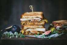 Fall Grilled Cheese with Apple Cider Caramelized Onions