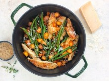 Chicken and Butternut Squash Dinner with Maple Dijon Sauce