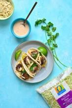 Thai Meatball Tacos with Broccoli Slaw
