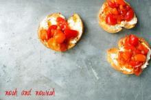 Apricot Tomato Bruschetta