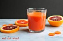 Blood Orange, Carrot, & Ginger Juice