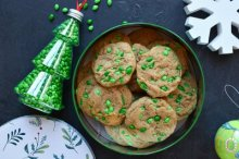Holiday Cookies with Chocolate Covered Sunflower Seeds