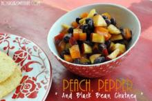 {Peach, Pepper, & Black Bean Chutney}