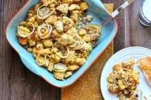 Cornbread Stuffing with Cranberries and Roasted Fennel