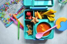 Lunchbox with Tomato Soup and Grilled Cheese Stars