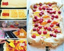 Chipotle Peach & Raspberry Cheese Bread