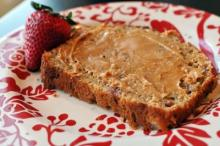 {Greek Yogurt Strawberry Banana Bread}