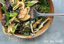 Roasted Pear and Fennel Salad w/Sesame Vinaigrette