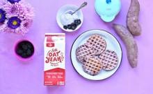 Purple Sweet Potato Waffles