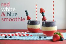 Red, White, & Blue Layered Smoothie!