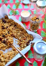 Homemade Bourbon Maple Granola