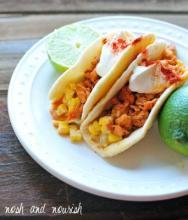 Chili Lime Salmon Tacos w/Corn Salsa