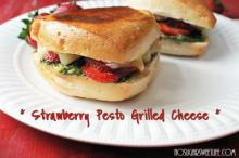 Strawberry Pesto Grilled Cheese