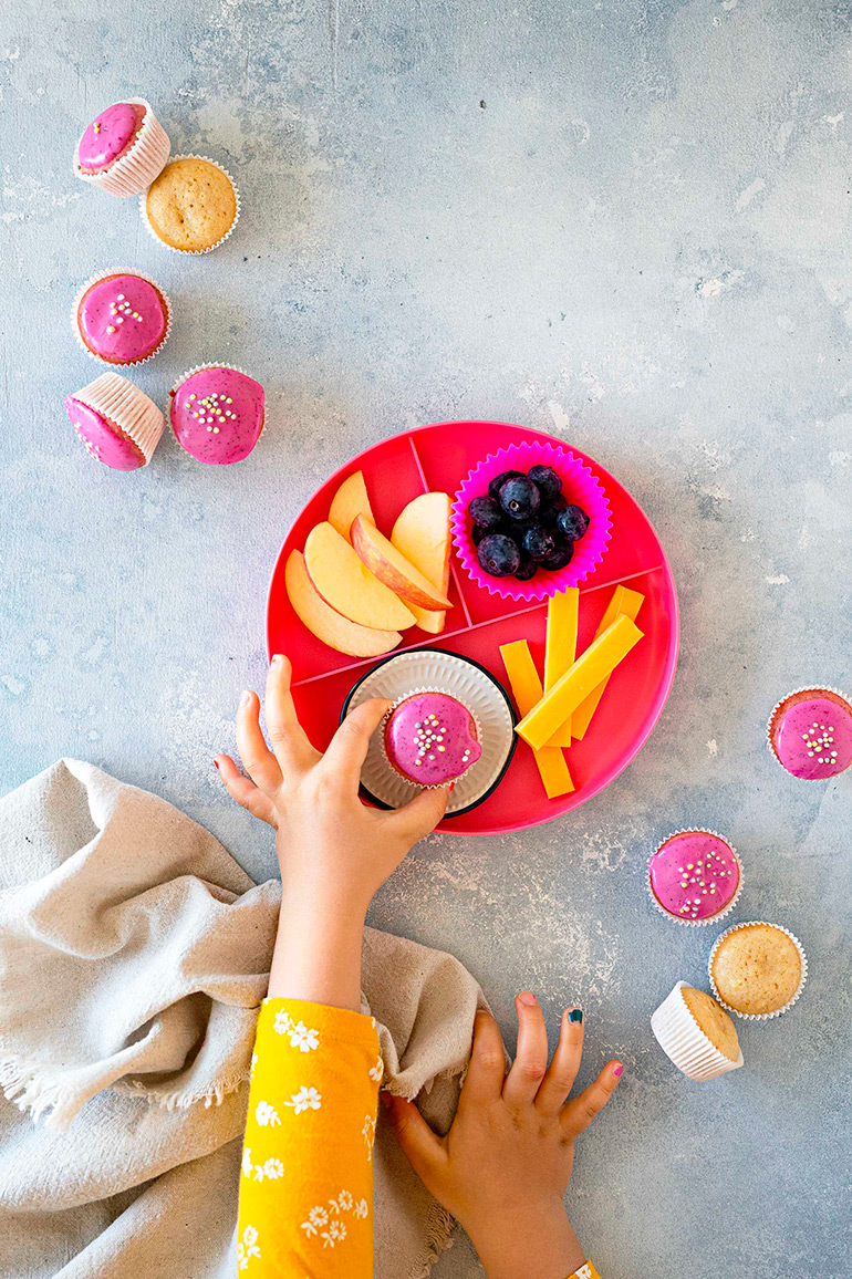 kid-friendly pink donut muffins saved for web