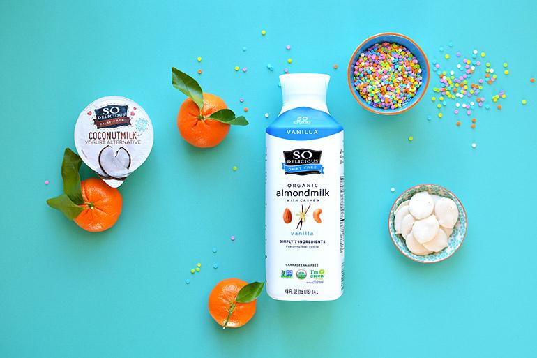 orange dreamsicles with so delicious dairy free almondmilk