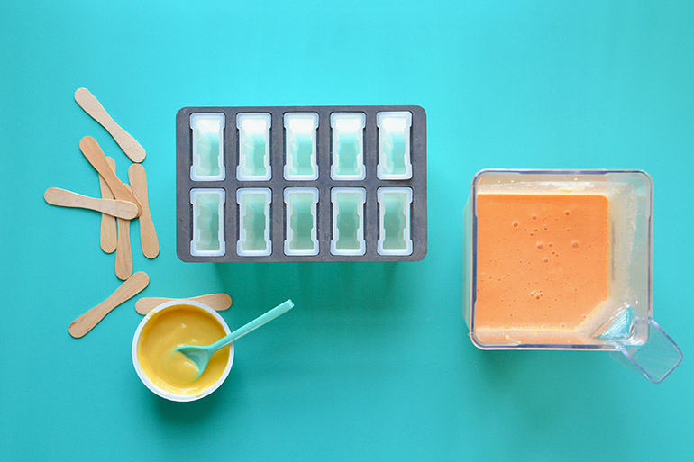 popsicle mold for orange dreamsicles