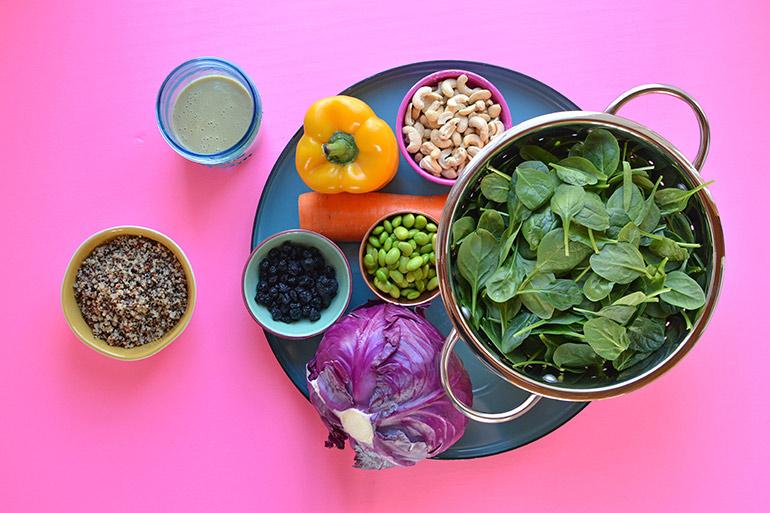 rainbow cashew salad ingredients