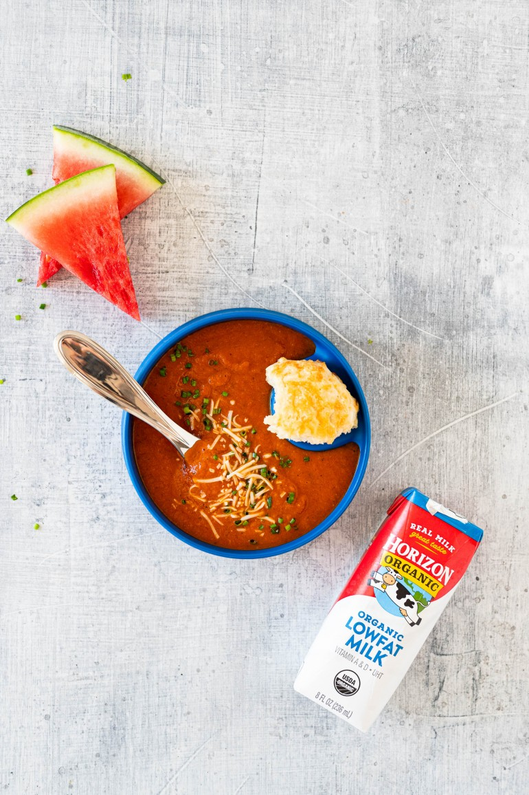 horizon tomato soup from above