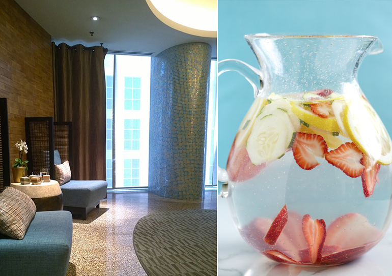 dana hotel and spa with cucumber strawberry water