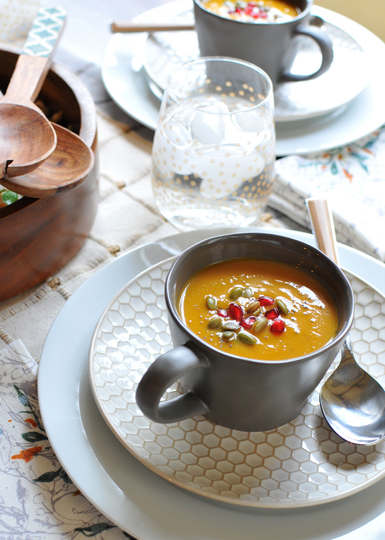 pumpkin bisque thanksgiving appetizer