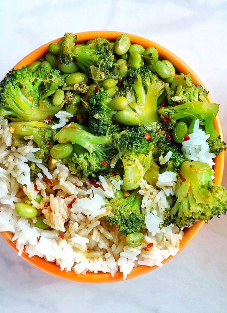 broccoli bowl close-up