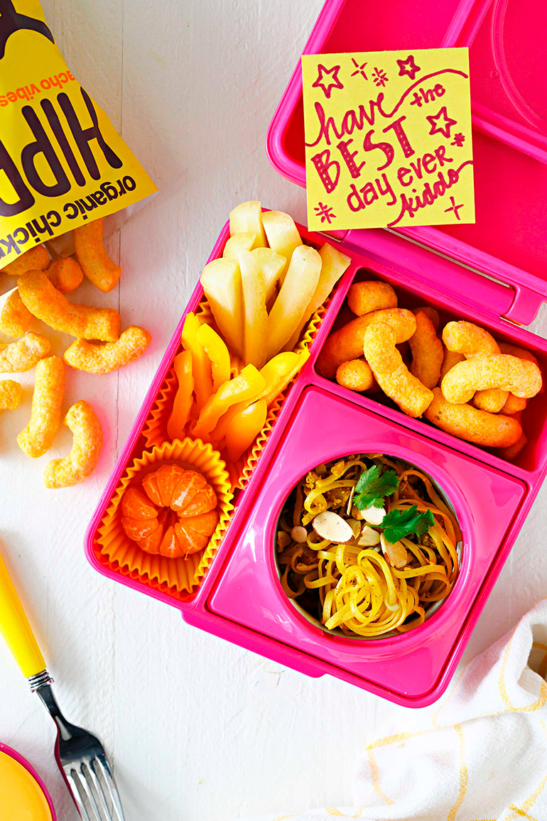 curry noodles in lunchbox