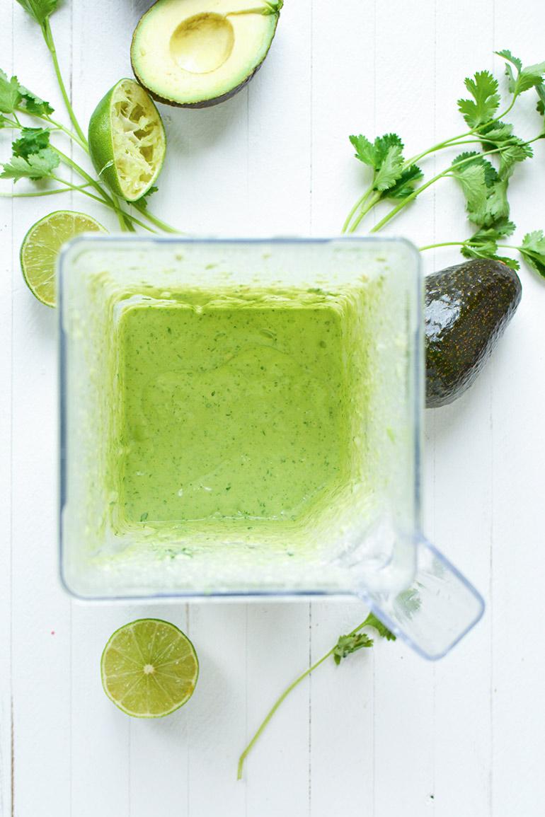 creamy avocado crema