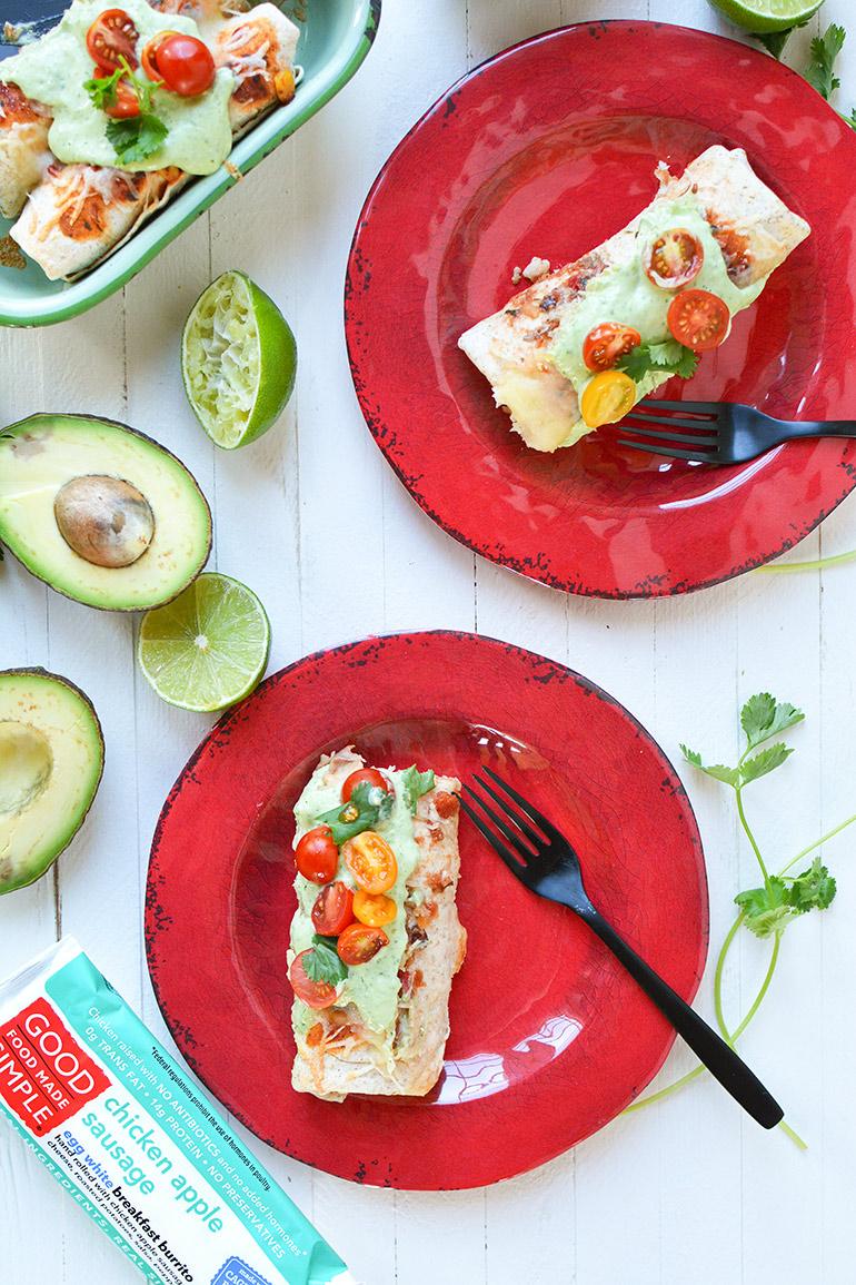 holiday breakfast burritos