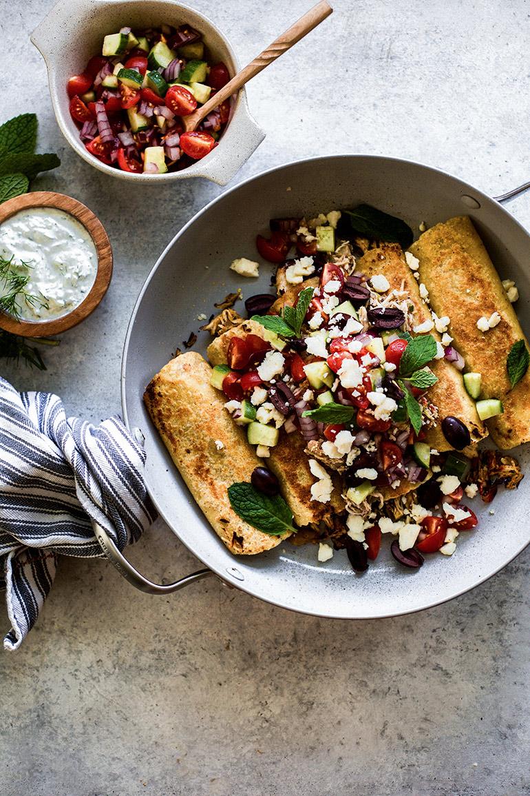 Mediterranean enchiladas