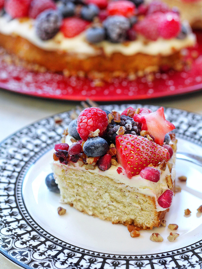 slice of vegan pound cake