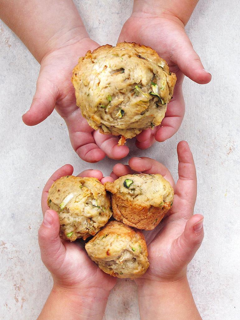 zucchini muffins from First Bites cookbook