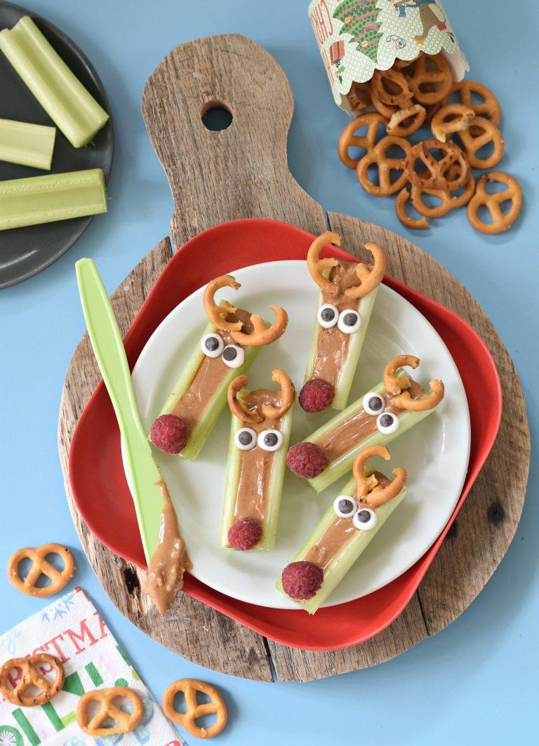 peanut butter celery reindeer