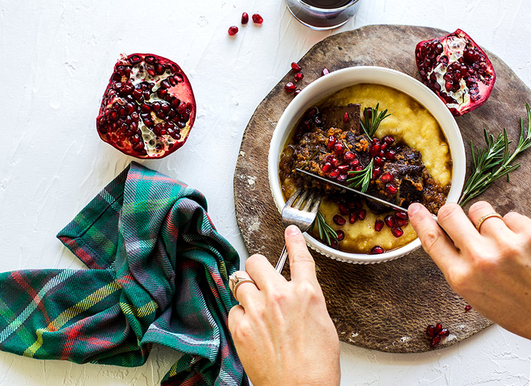short ribs with pomegranate