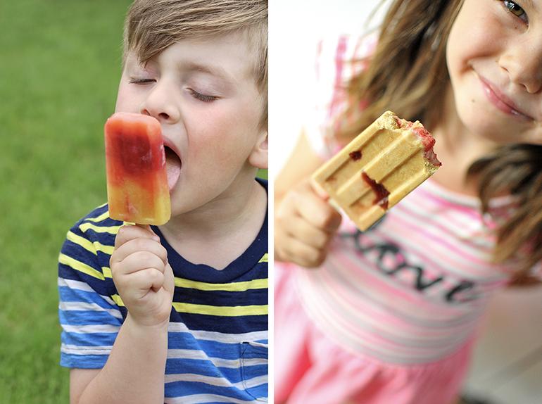 kids eating popsicles