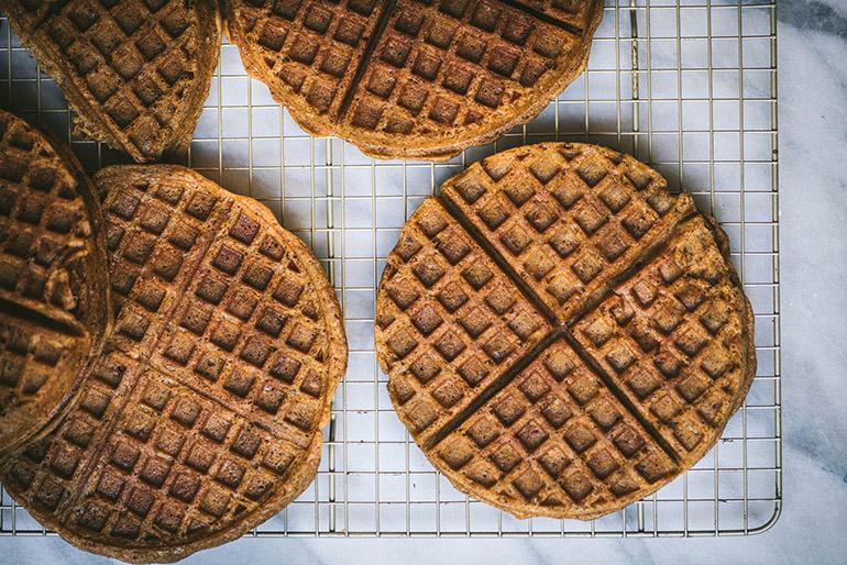glutenfree pumpkin pecan waffles
