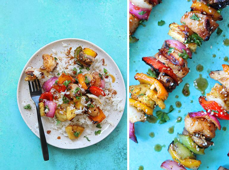 rainbow chicken skewers lunchesandlittles