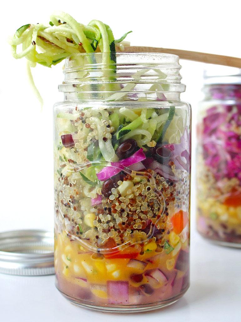 southwest zoodle jar salad