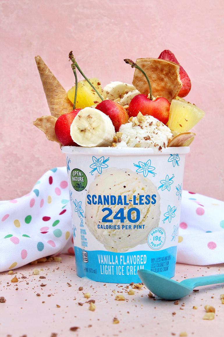 banana split in scandal-less pint