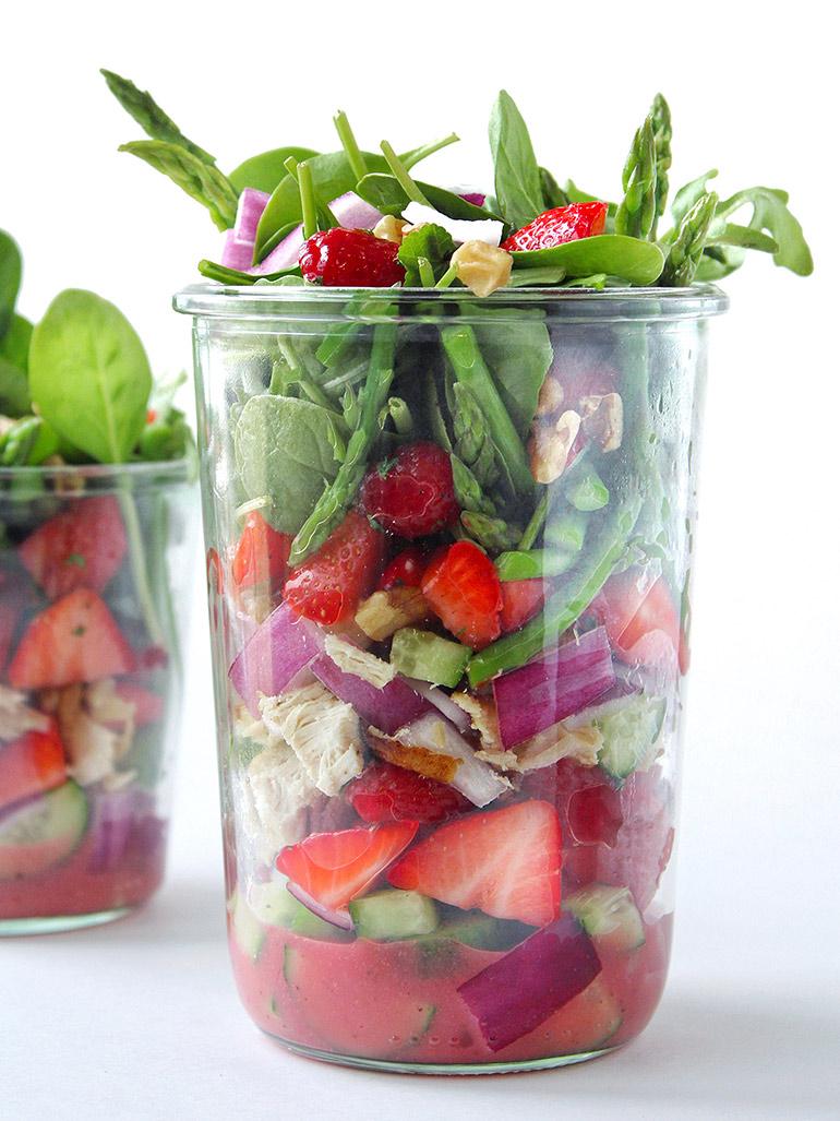 spring mason jar salad
