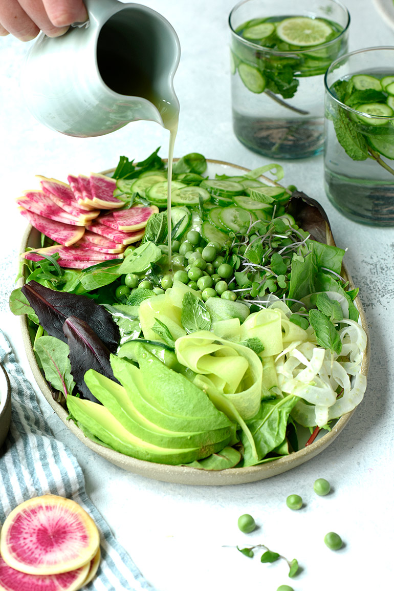 taylor farms spring greens salad with tarragon dressing
