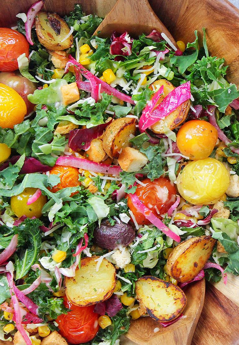 taylor farms asiago kale chopped salad close up