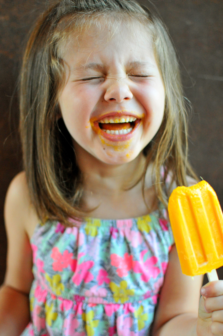 tropical sunrise veggie popsicles and smiles