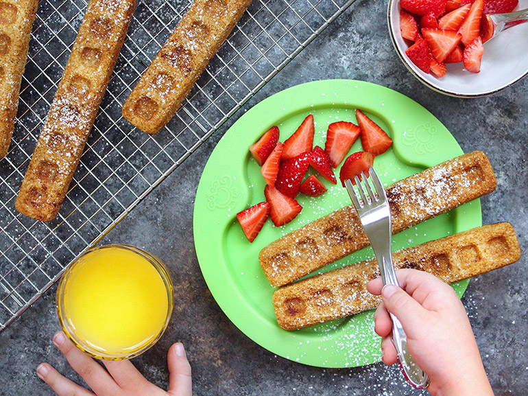 winter waffle sticks from lunches and littles