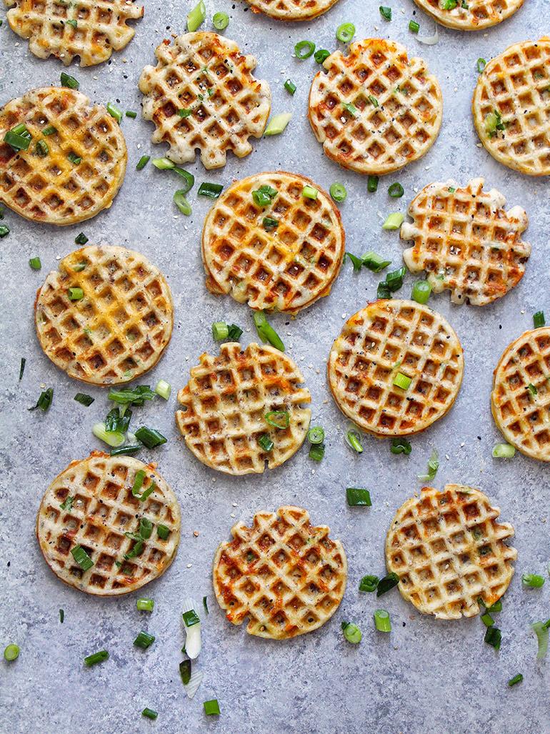 savory cheddar waffles
