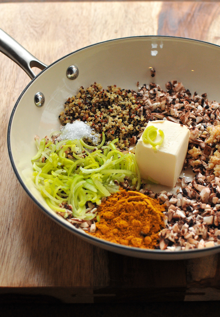 acorn squash stuffing in pan