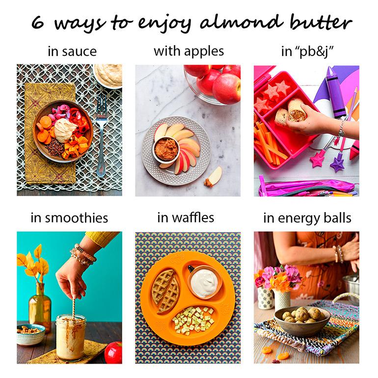 almond butter 6 ways