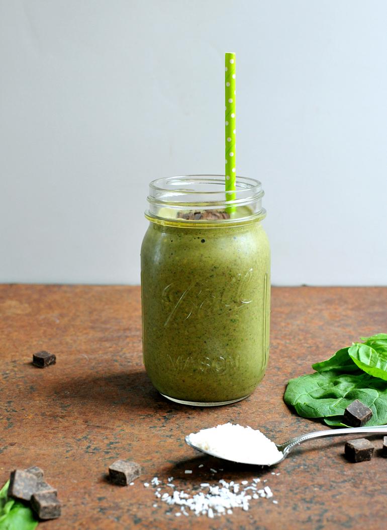 almond joy green smoothie