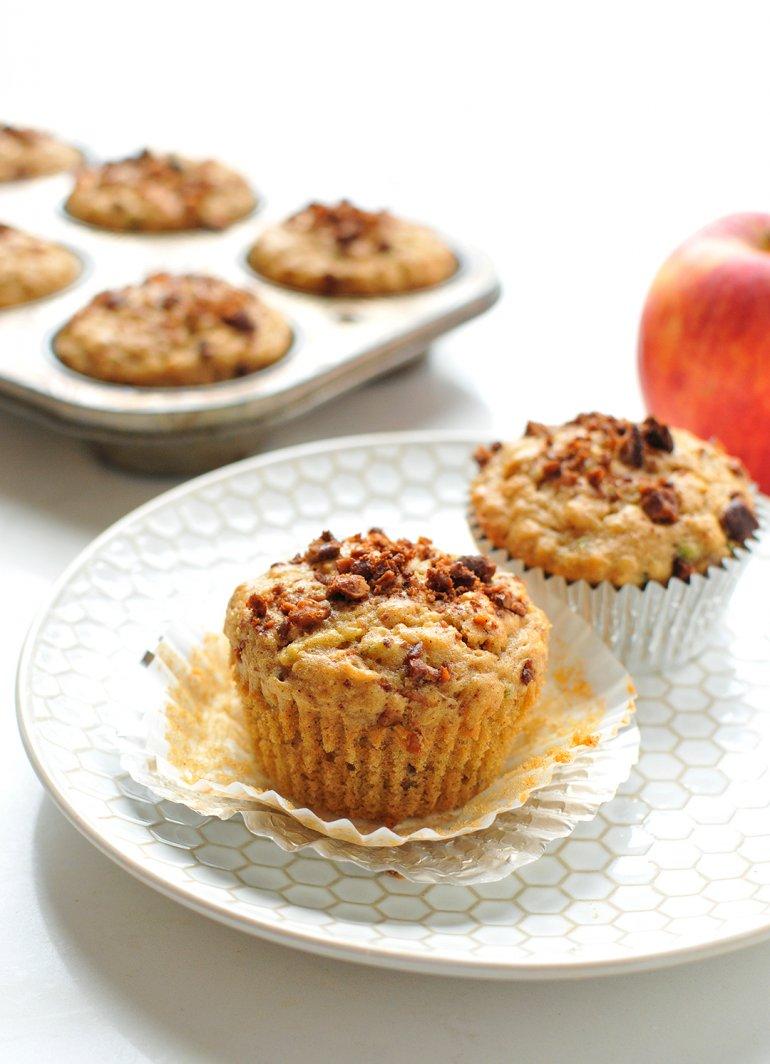 apple cinnamon super grain mufffin