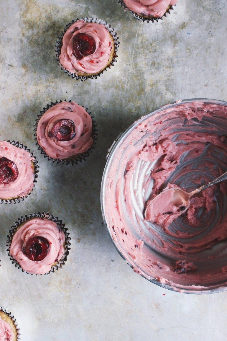 cherry cupcakes